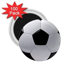 Soccer Ball 2 25  Magnets (100 Pack)  by BangZart