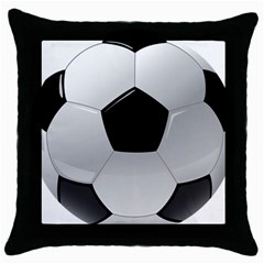 Soccer Ball Throw Pillow Case (black) by BangZart