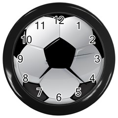 Soccer Ball Wall Clocks (black) by BangZart