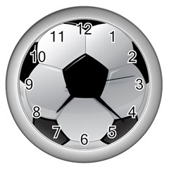 Soccer Ball Wall Clocks (silver)  by BangZart
