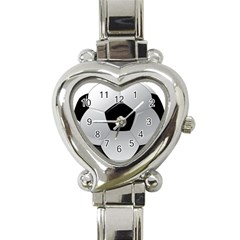 Soccer Ball Heart Italian Charm Watch