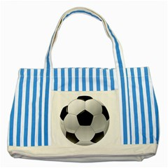 Soccer Ball Striped Blue Tote Bag