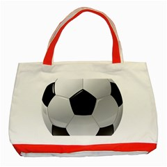 Soccer Ball Classic Tote Bag (red) by BangZart
