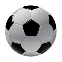 Soccer Ball Round Ornament (two Sides)