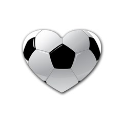 Soccer Ball Rubber Coaster (heart)  by BangZart