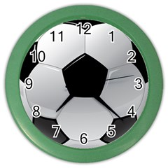 Soccer Ball Color Wall Clocks by BangZart