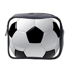 Soccer Ball Mini Toiletries Bag 2 Side by BangZart