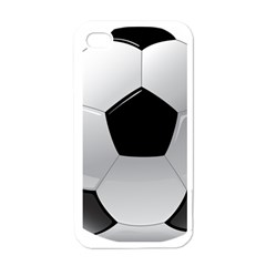 Soccer Ball Apple Iphone 4 Case (white) by BangZart