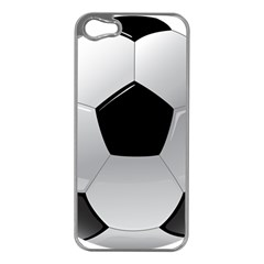 Soccer Ball Apple Iphone 5 Case (silver)