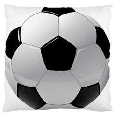 Soccer Ball Standard Flano Cushion Case (two Sides)