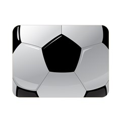 Soccer Ball Double Sided Flano Blanket (mini)  by BangZart