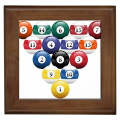 Racked Billiard Pool Balls Framed Tiles