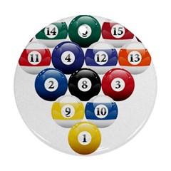 Racked Billiard Pool Balls Ornament (round) by BangZart