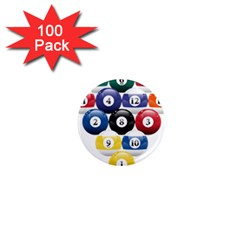 Racked Billiard Pool Balls 1  Mini Magnets (100 Pack)  by BangZart