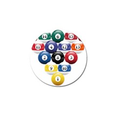 Racked Billiard Pool Balls Golf Ball Marker (4 Pack)