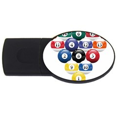 Racked Billiard Pool Balls Usb Flash Drive Oval (4 Gb)