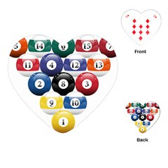 Racked Billiard Pool Balls Playing Cards (heart)  by BangZart
