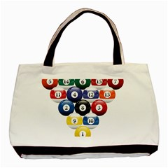 Racked Billiard Pool Balls Basic Tote Bag