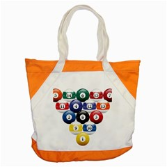 Racked Billiard Pool Balls Accent Tote Bag by BangZart