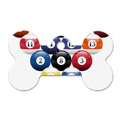 Racked Billiard Pool Balls Dog Tag Bone (two Sides) by BangZart