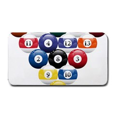 Racked Billiard Pool Balls Medium Bar Mats by BangZart