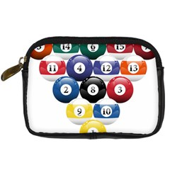 Racked Billiard Pool Balls Digital Camera Cases by BangZart