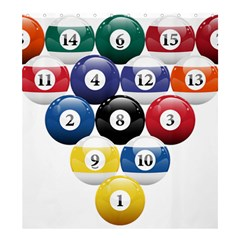 Racked Billiard Pool Balls Shower Curtain 66  X 72  (large)  by BangZart