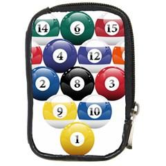 Racked Billiard Pool Balls Compact Camera Cases by BangZart