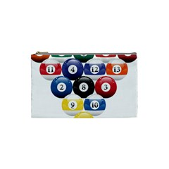 Racked Billiard Pool Balls Cosmetic Bag (small)