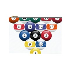 Racked Billiard Pool Balls Cosmetic Bag (large)  by BangZart