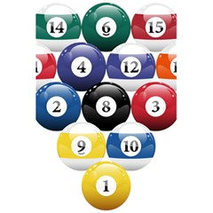 Racked Billiard Pool Balls 5 5  X 8 5  Notebooks by BangZart