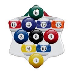 Racked Billiard Pool Balls Ornament (snowflake)