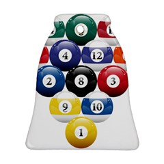 Racked Billiard Pool Balls Bell Ornament (two Sides)