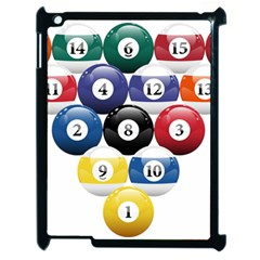 Racked Billiard Pool Balls Apple Ipad 2 Case (black) by BangZart