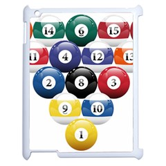 Racked Billiard Pool Balls Apple Ipad 2 Case (white) by BangZart