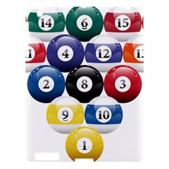 Racked Billiard Pool Balls Apple Ipad 3/4 Hardshell Case by BangZart