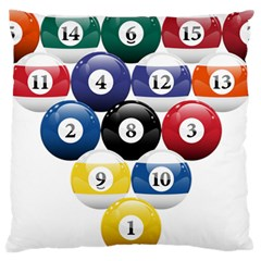 Racked Billiard Pool Balls Large Cushion Case (one Side) by BangZart