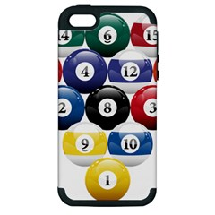 Racked Billiard Pool Balls Apple Iphone 5 Hardshell Case (pc+silicone) by BangZart