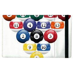 Racked Billiard Pool Balls Apple Ipad 3/4 Flip Case by BangZart