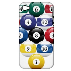 Racked Billiard Pool Balls Apple Iphone 4/4s Hardshell Case (pc+silicone) by BangZart