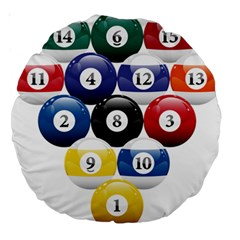 Racked Billiard Pool Balls Large 18  Premium Round Cushions by BangZart