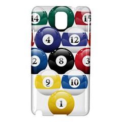 Racked Billiard Pool Balls Samsung Galaxy Note 3 N9005 Hardshell Case by BangZart