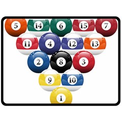 Racked Billiard Pool Balls Double Sided Fleece Blanket (large)  by BangZart