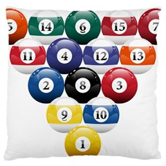 Racked Billiard Pool Balls Large Flano Cushion Case (two Sides) by BangZart
