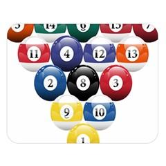 Racked Billiard Pool Balls Double Sided Flano Blanket (large)