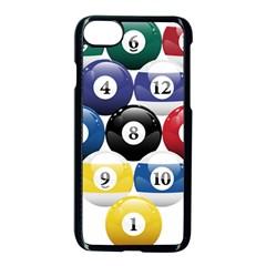Racked Billiard Pool Balls Apple Iphone 7 Seamless Case (black) by BangZart