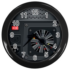 Special Black Power Supply Computer Wall Clocks (black)