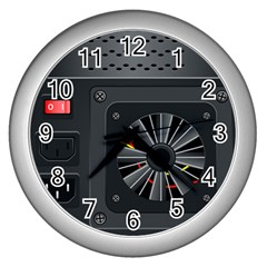 Special Black Power Supply Computer Wall Clocks (silver)