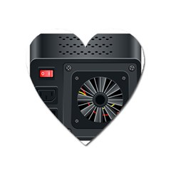 Special Black Power Supply Computer Heart Magnet by BangZart