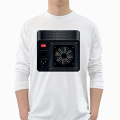 Special Black Power Supply Computer White Long Sleeve T Shirts